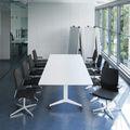 Falttisch TIMMY 3.200 x 1.200 mm Weiß rollbar klappbar Konferenztisch