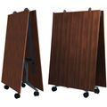 Falttisch TIMMY 3.200 x 1.200 mm Nussbaum rollbar klappbar Konferenztisch