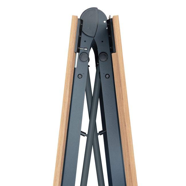 TIMMY Falttisch   Auf Rollen, klappbar, 3200 x 1200 mm, Bernsteineiche
