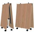 Falttisch TIMMY 3.200 x 1.200 mm Bernstein-Eiche rollbar klappbar Konferenztisch