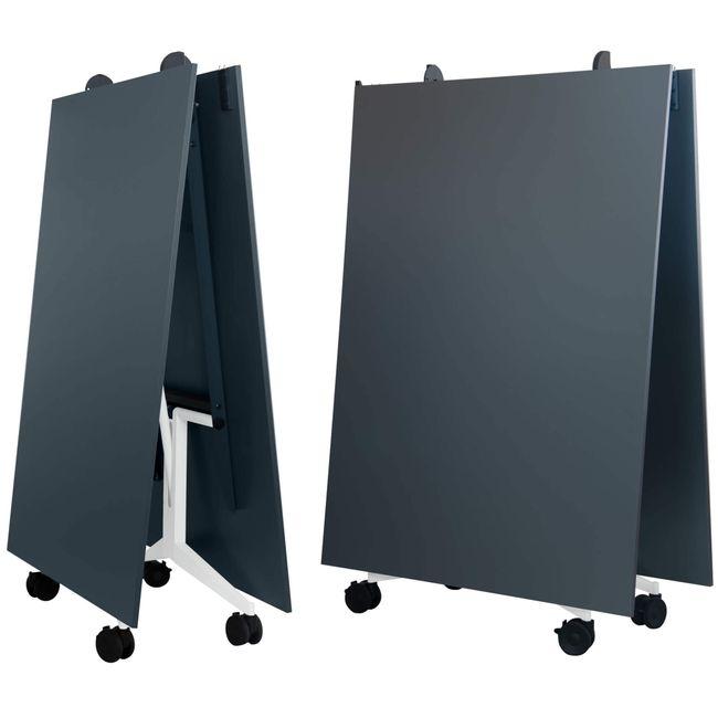TIMMY Falttisch   Auf Rollen, klappbar, 3200 x 1200 mm, Anthrazit