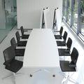 Falttisch TIMMY 3.200 x 1.200 mm Weiß Bootsform rollbar klappbar Konferenztisch