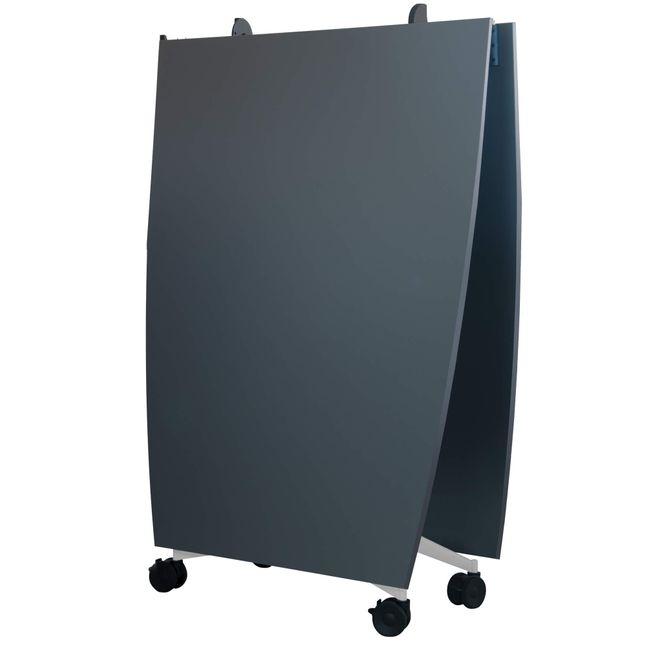 TIMMY Falttisch | Auf Rollen, klappbar, Bootsform, 3200 x 1200 mm, Anthrazit