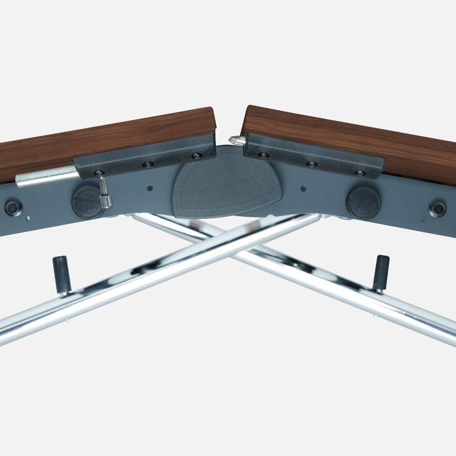 LIBRO Falttisch   Auf Rollen, klappbar, 2400 x 1000 mm, Nussbaum