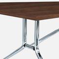 Falttisch LIBRO 2.400 x 1.000 mm Nussbaum rollbar klappbar Konferenztisch