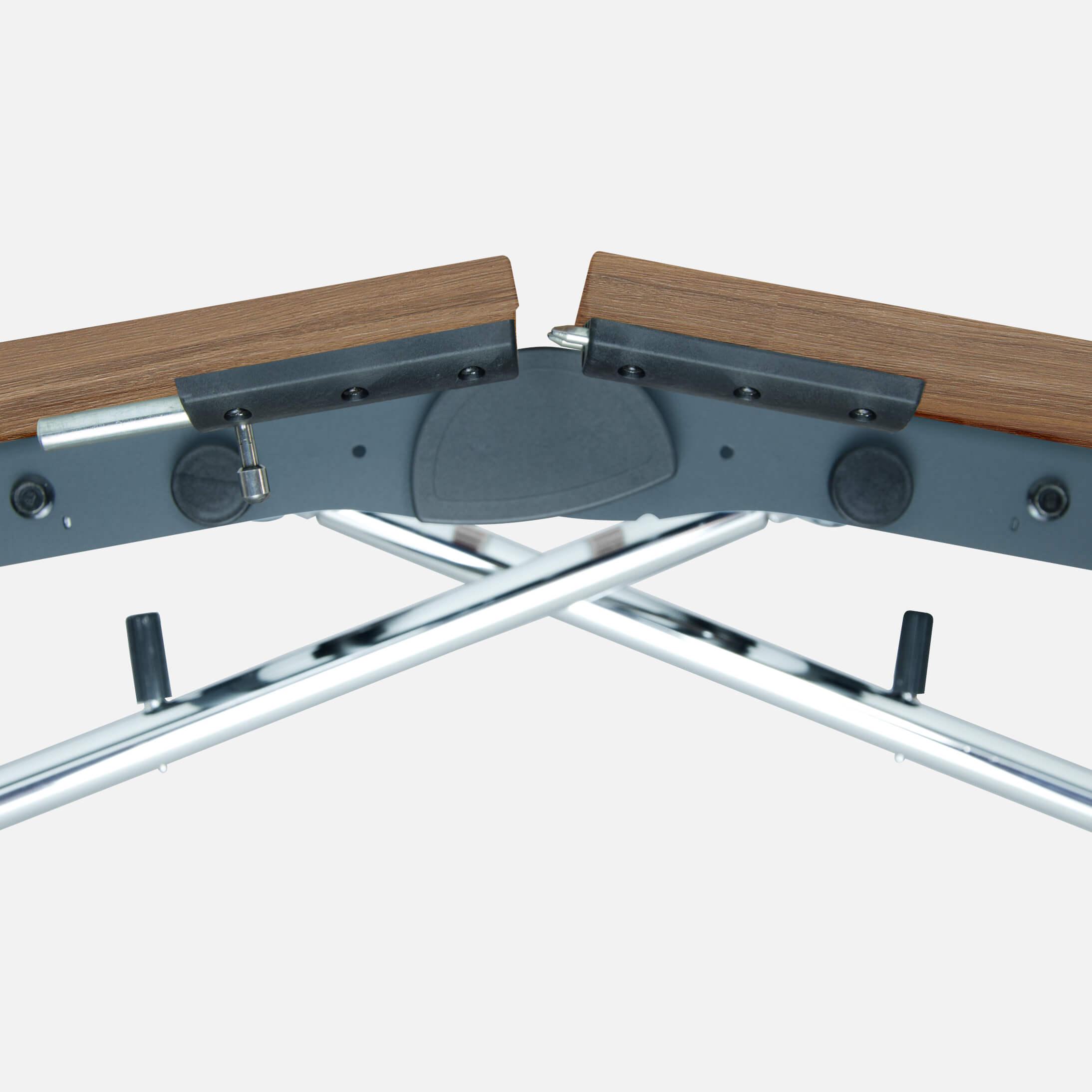 Falttisch Klapptisch 2.400 x 1.000 mm LIBRO Eiche Konferenztisch klappbar rollbar auf Rollen mobil