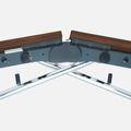 Falttisch LIBRO 2.800 x 1.000 mm Nussbaum rollbar klappbar Konferenztisch