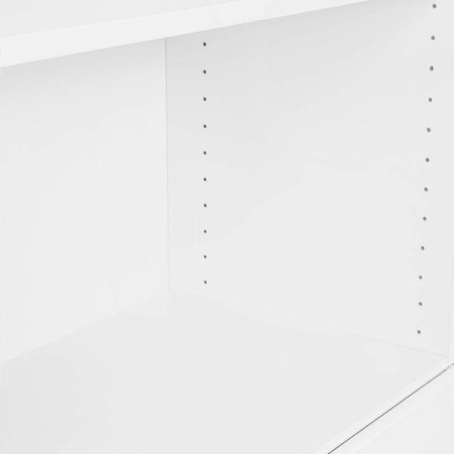 UNI Kombischrank mit Hängeregister | 5 OH, 800 x 1897 mm, Weiß