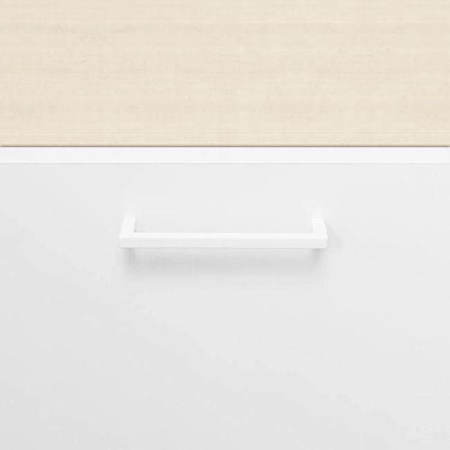 UNI Kombischrank mit Hängeregister | 5 OH, 800 x 1897 mm, Ahorn / Weiß