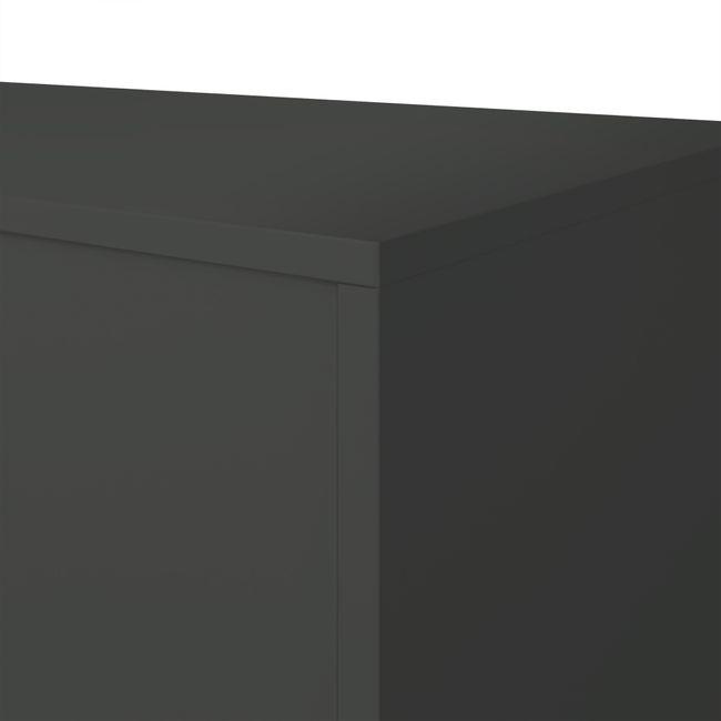 UNI Vitrinenschrank mit Hängeregister   5 OH, 800 x 1897 mm, Anthrazit / Weiß