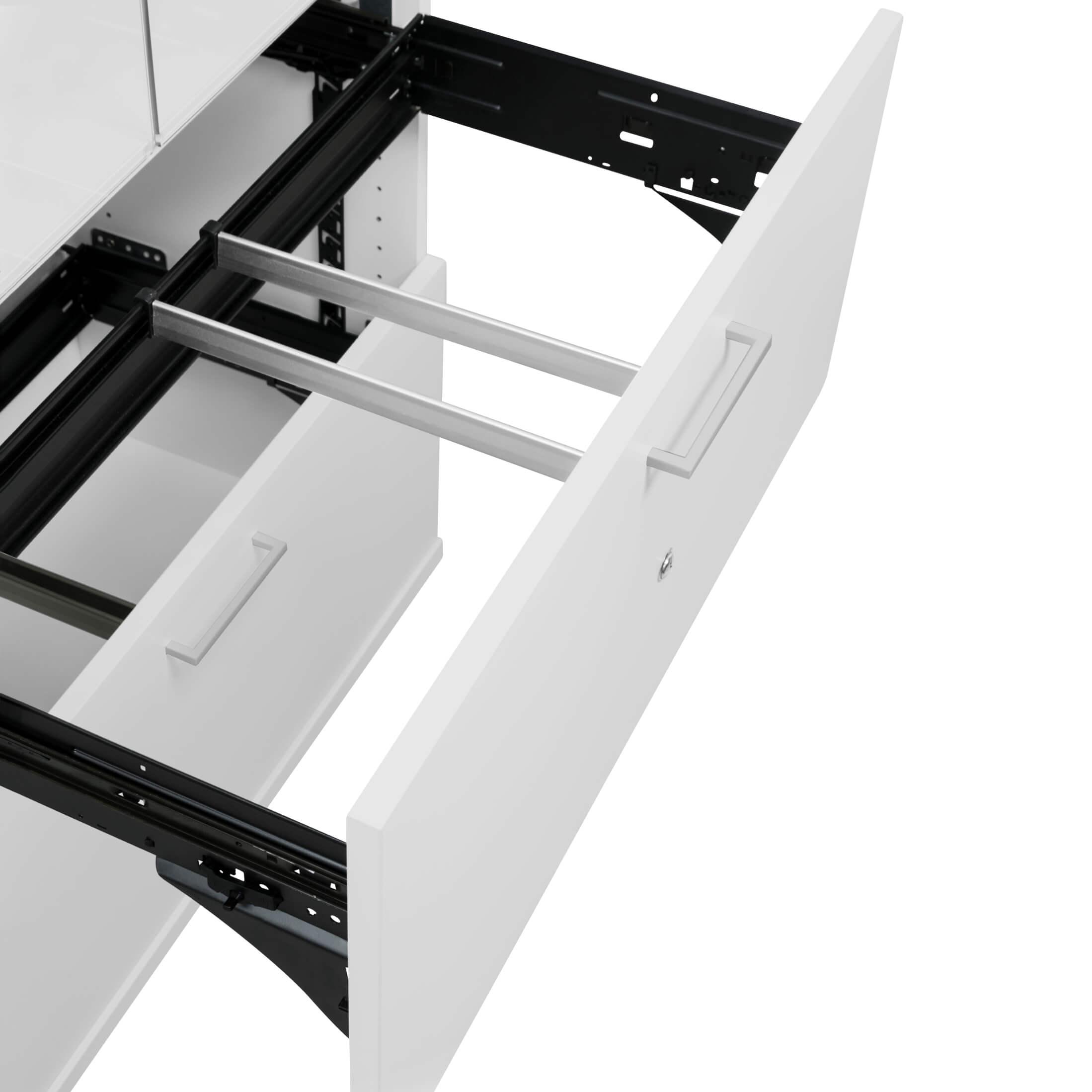 PROFI Vitrinenschrank mit Hängeregister abschließbar 5 OH Lichtgrau Schrank Büroschrank