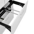 Vitrinenschrank mit Hängeregister und Glastüren UNI 5 OH, (BxH) 800 x 1.897 mm, Lichtgrau