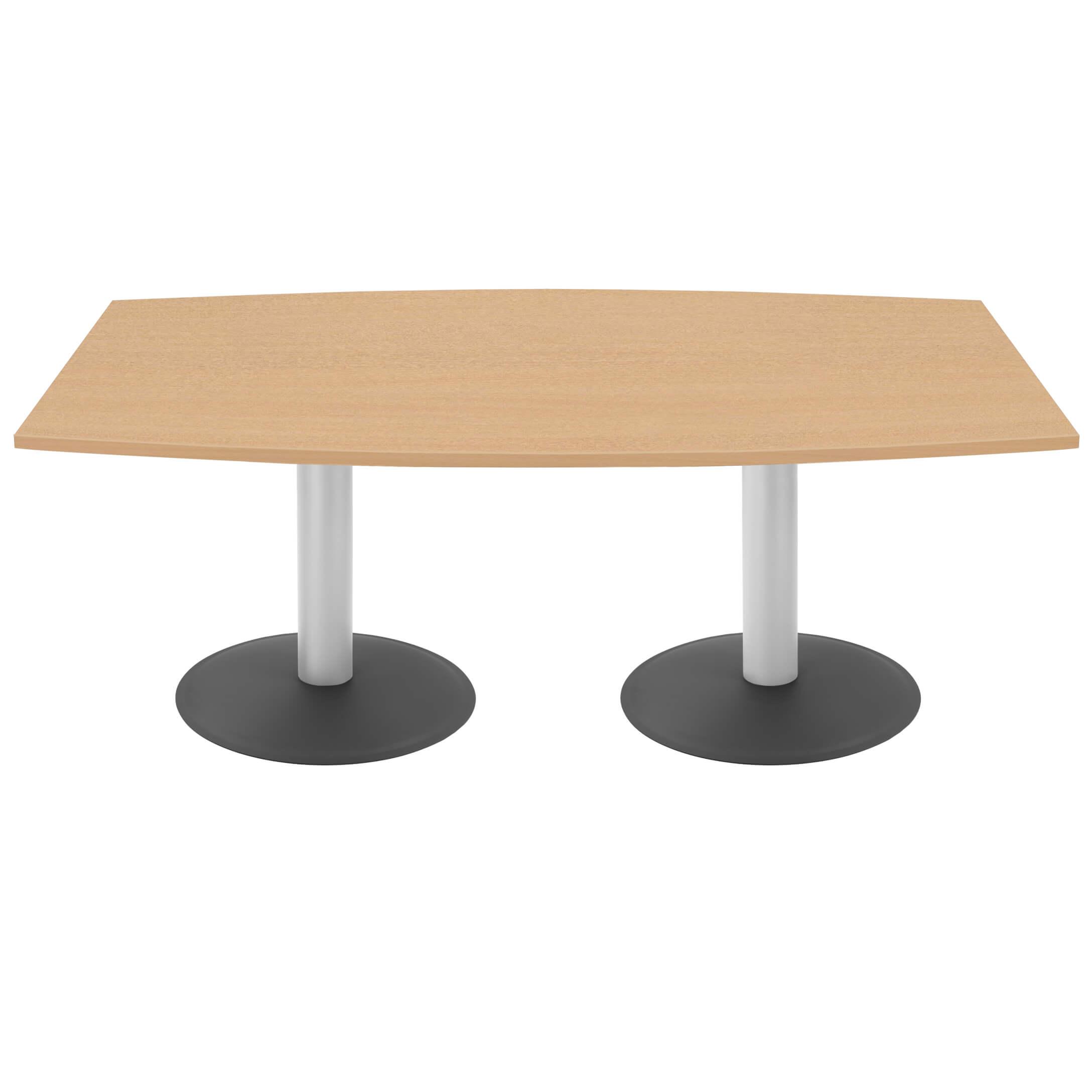 OPTIMA Konferenztisch Bootsform 180x100 cm Besprechungstisch Buche Tisch Esstisch Küchentisch