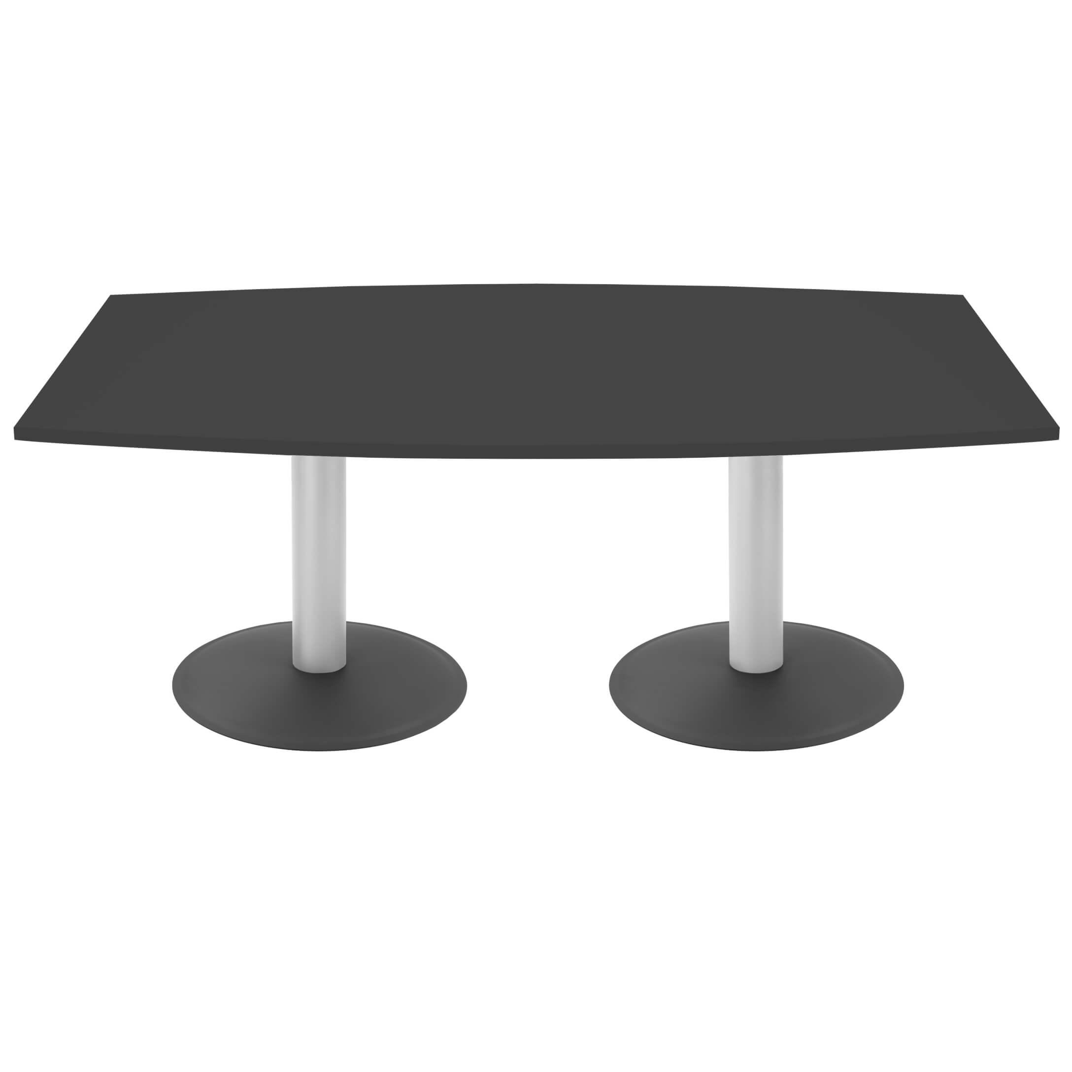 OPTIMA Konferenztisch Bootsform 180x100 cm Besprechungstisch Anthrazit Tisch Esstisch Küchentisch