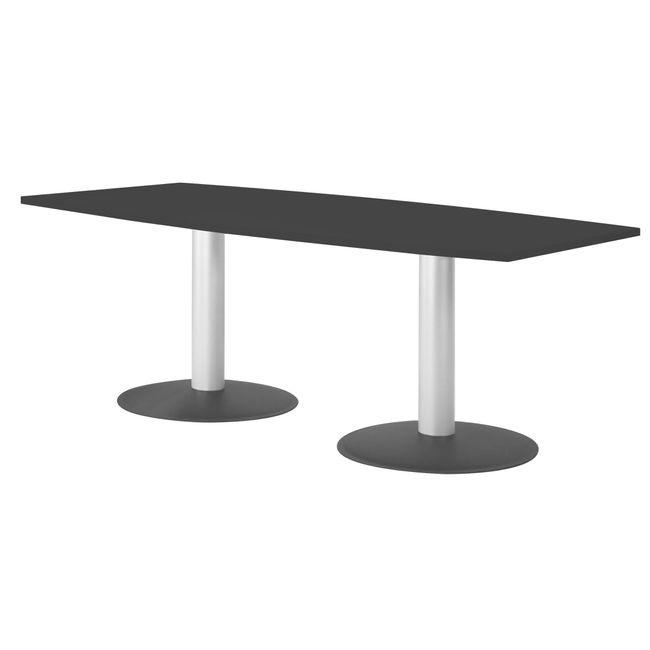 OPTIMA Konferenztisch | Bootsform, 1800 x 1000 mm (6 - 8 Personen), Anthrazit