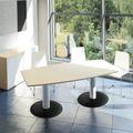 Konferenztisch Bootsform OPTIMA 2.000 x 1.000 mm 6 - 8 Personen Ahorn