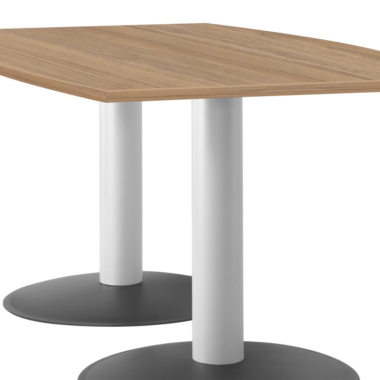 OPTIMA Konferenztisch Bootsform 200x100 cm Besprechungstisch Bernstein-Eiche Tisch Esstisch Küchentisch