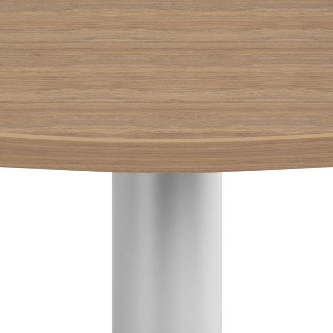 OPTIMA Konferenztisch | Bootsform, 2000 x 1000 mm (6 - 8 Personen), Bernsteineiche