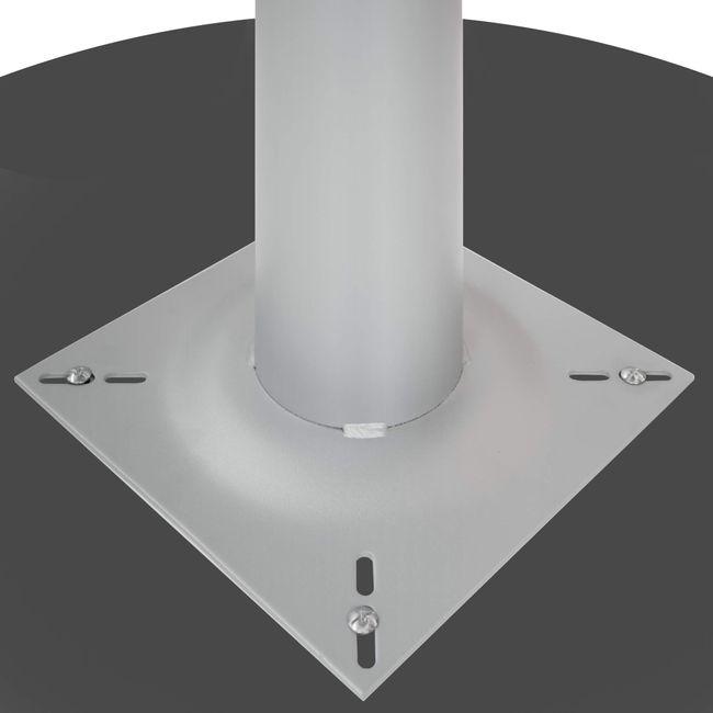 OPTIMA Konferenztisch | Bootsform, 2000 x 1000 mm (6 - 8 Personen), Anthrazit
