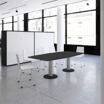 Konferenztisch Bootsform OPTIMA 2.000 x 1.000 mm 6 - 8 Personen Anthrazit