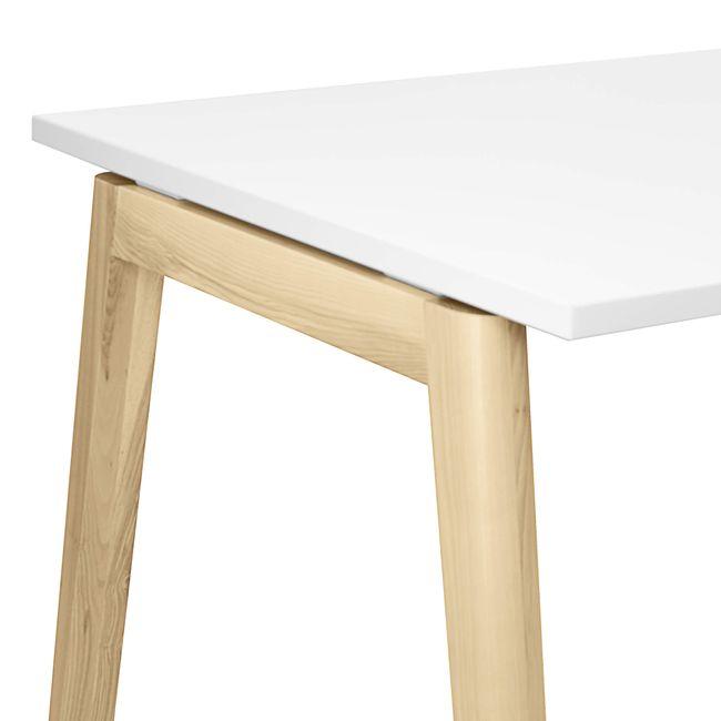 Hochtisch NOVA Wood 1.600 x 700 mm Weiß mit Holzgestell – Bild 3