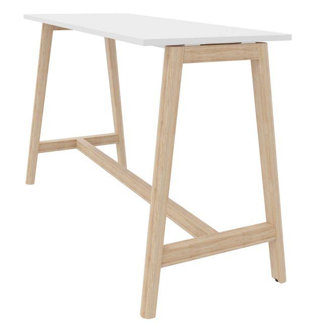 Hochtisch NOVA Wood 1.600 x 700 mm Weiß mit Holzgestell – Bild 2