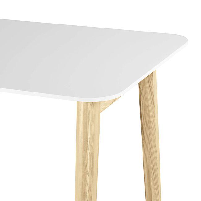 Hochtisch NOVA Wood 1.600 x 700 mm HPL-Weiß mit Holzgestell – Bild 4