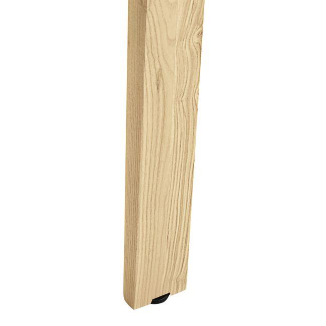 NOVA WOOD Hochtisch | Massivholz-Gestell, 1800 x 700 mm, HPL Weiß