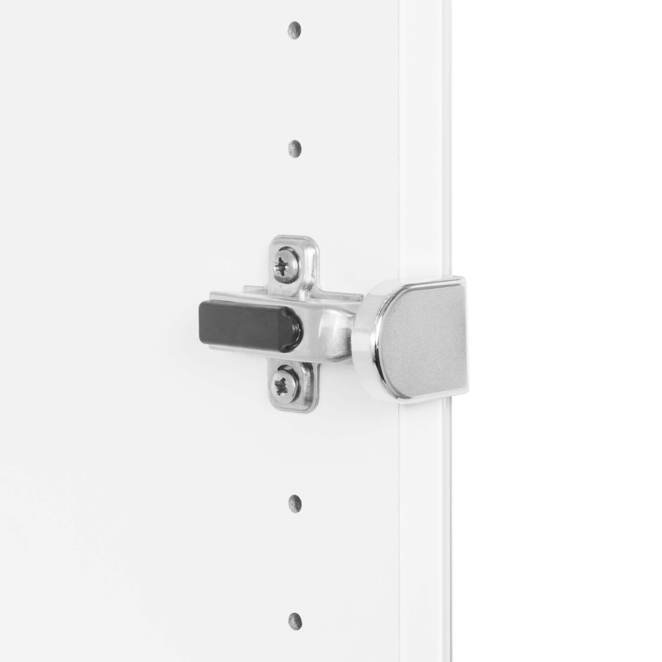 PROFI Vitrinenschrank abschließbar 5 OH Weiß Schrank Büroschrank Flügeltürenschrank