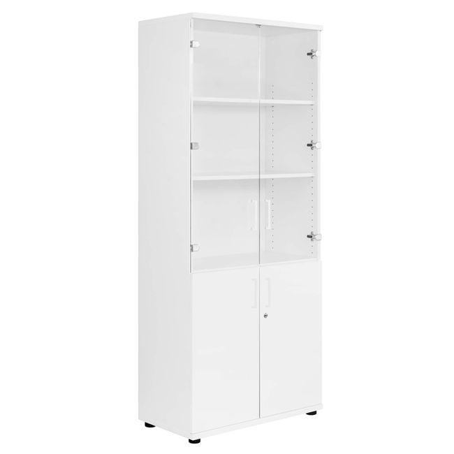 UNI Vitrinenschrank | 5 OH, 800 x 1897 mm, Weiß