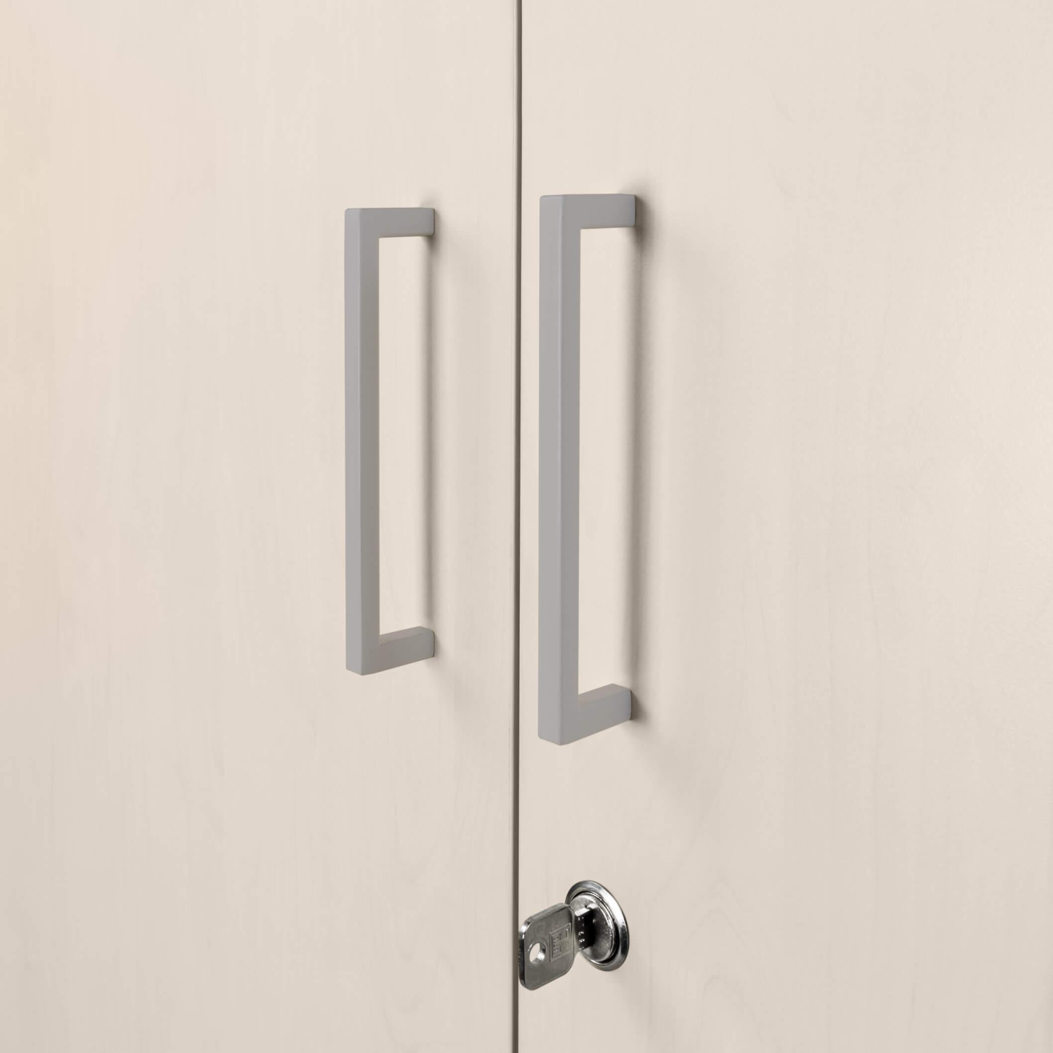 PROFI Vitrinenschrank abschließbar 5 OH Ahorn Schrank Büroschrank Flügeltürenschrank