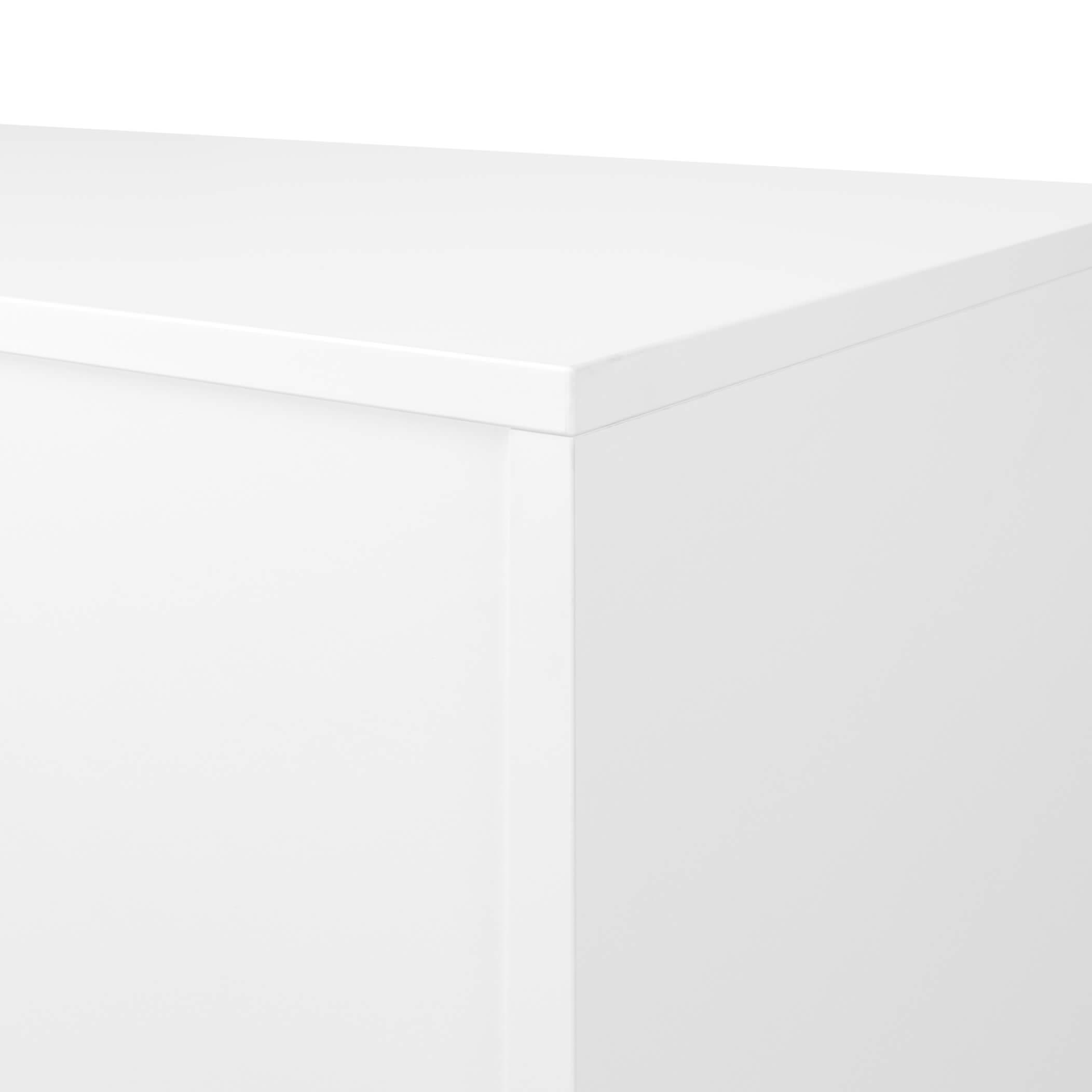 UNI Schiebetürenschrank abschließbar 1,2M Weiß Schrank Büroschrank Aktenschrank