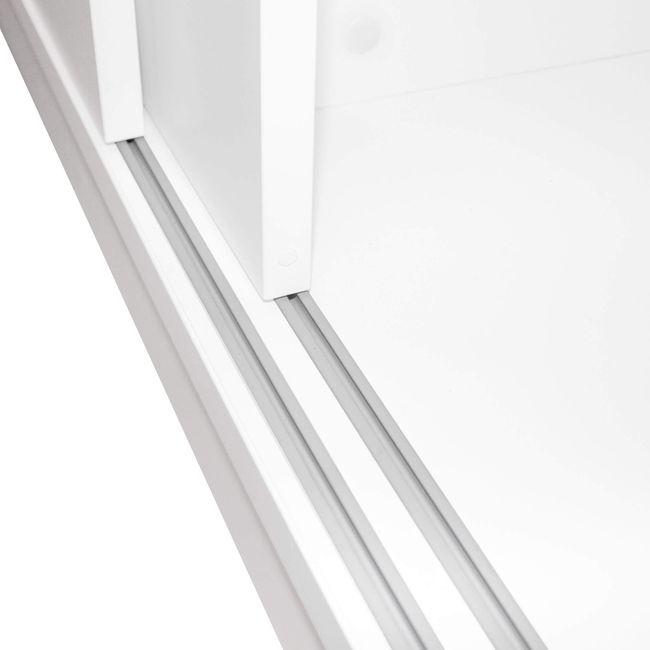 Schiebetürenschrank UNI 2 OH, (BxH) 1.200 x 777 mm, Weiß – Bild 9