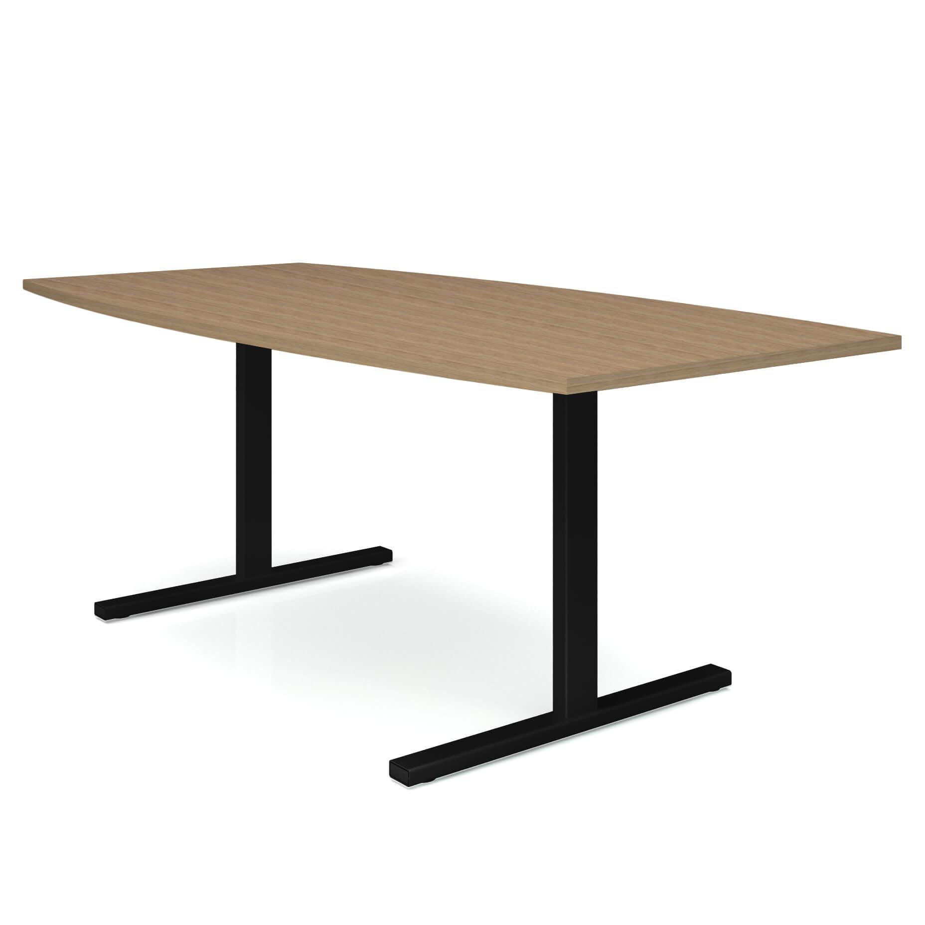 EASY Konferenztisch Bootsform 180x100 cm Bernstein-Eiche Besprechungstisch Tisch