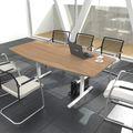 Konferenztisch Bootsform EASY 1.800 x 1.000 mm Bernstein-Eiche 6 - 8 Personen
