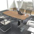 EASY Konferenztisch   Bootsform, 1800 x 1000 mm (6 - 8 Personen), Bernsteineiche