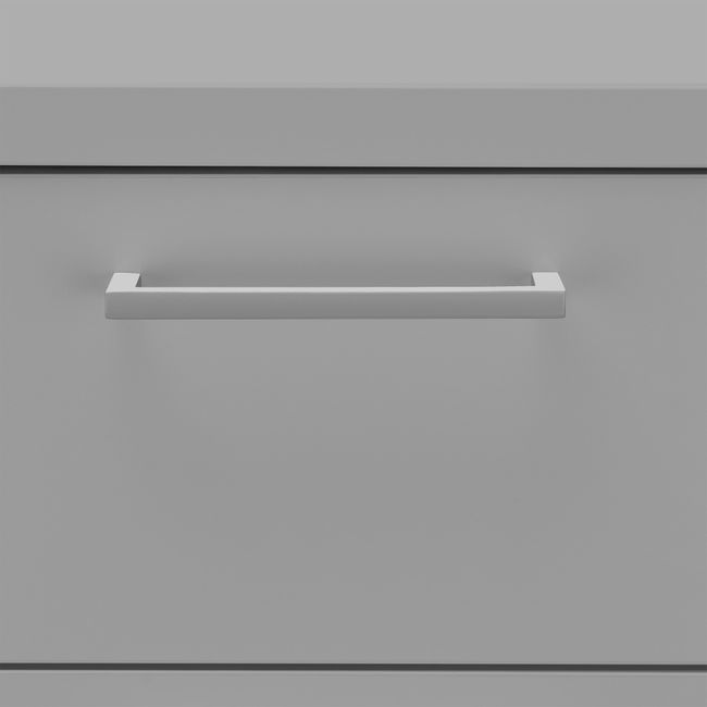OPTIMA Rollcontainer   3 Schubladen + 1 Kleinteilefach, 600 mm tief, Perlgrau