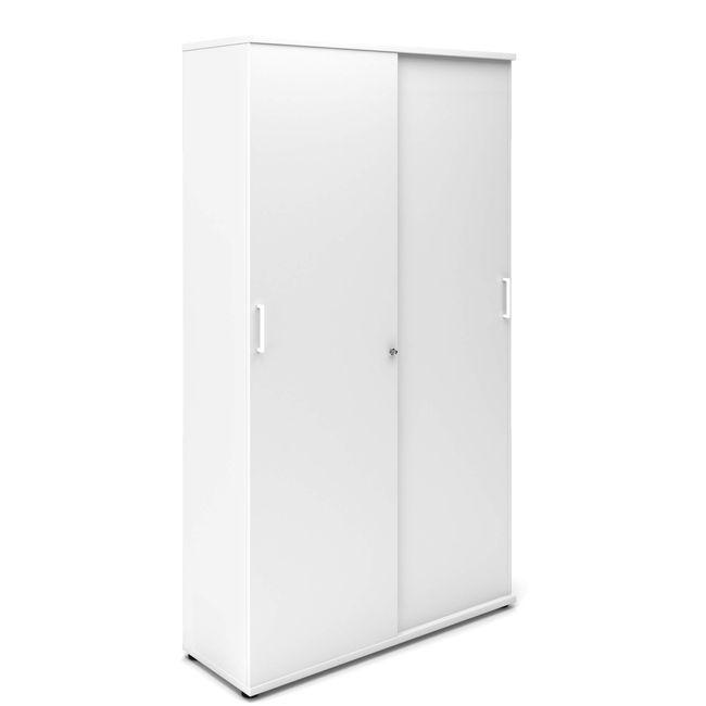Schiebetürenschrank UNI 5 OH, (BxH) 1.200 x 1.897 mm, Weiß – Bild 2