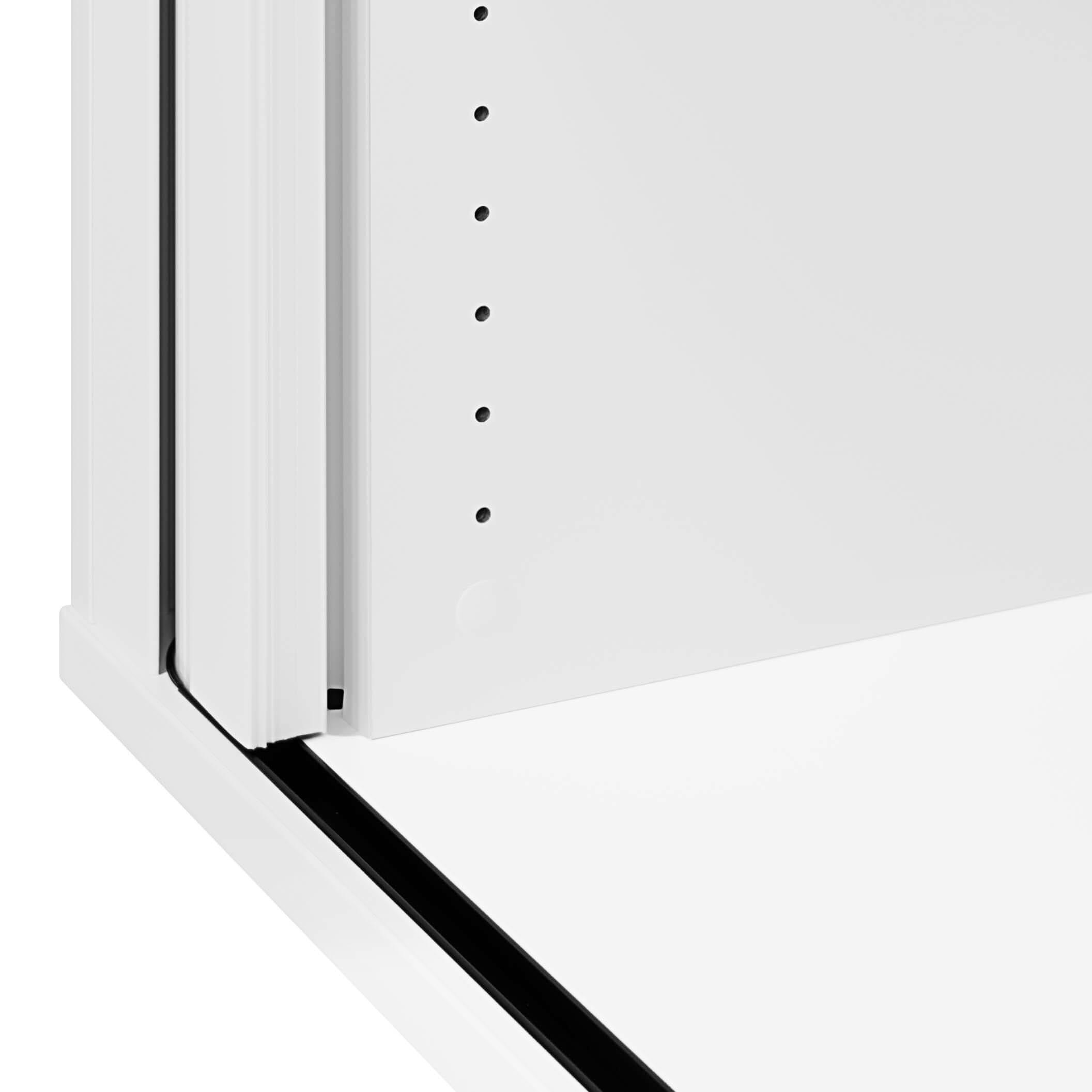 PROFI Jalousieschrank Weiß 2OH Quer-Rollladenschrank Aktenschrank Archivschrank