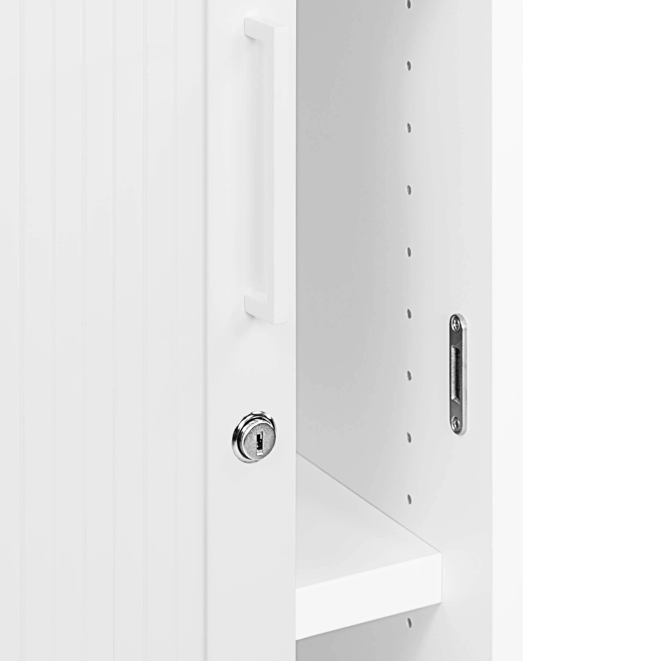 PROFI Jalousieschrank Weiß 3OH Quer-Rollladenschrank Aktenschrank Archivschrank