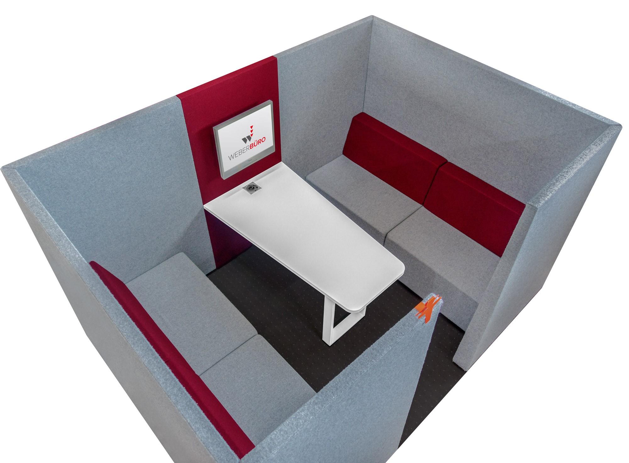 SilentBox JAZZ Besprechungsinsel, Ruhezone, Akustik-Schallschutz, Schallabsorber