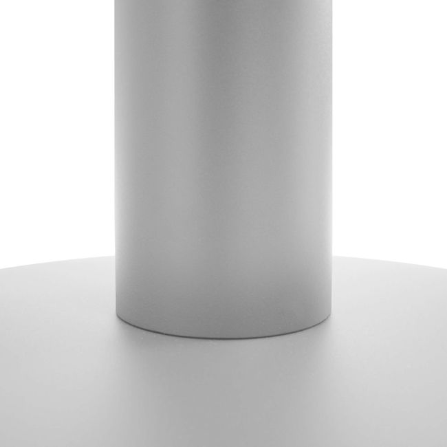 OPTIMA Besprechungstisch | Rund, Gestell Silber, Ø 1000 mm, Bernsteineiche