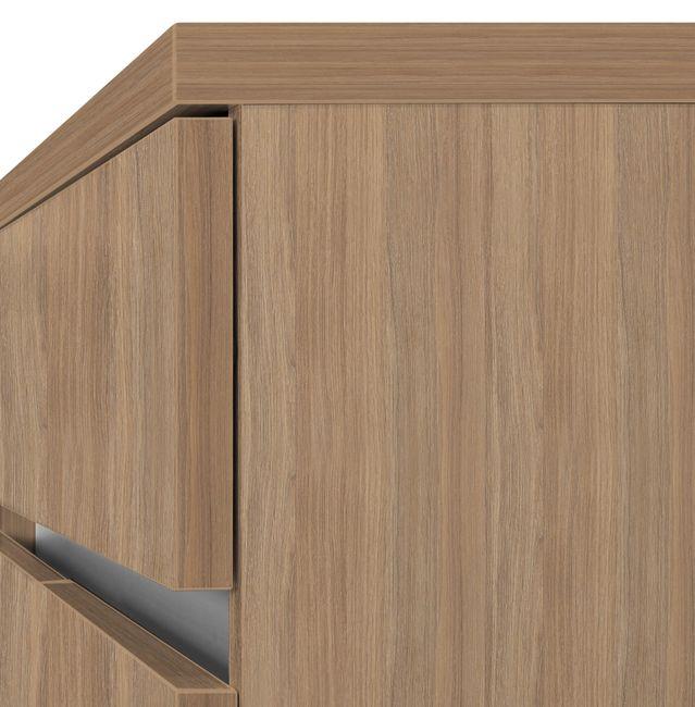Schreibtisch AIR mit integriertem Sideboard rechts 1600 x 1600 mm Bernstein-Eiche – Bild 9