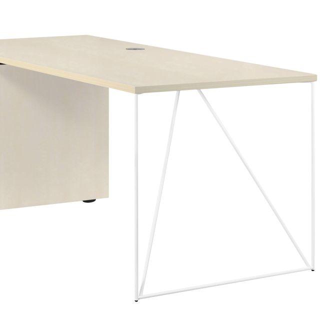Schreibtisch AIR mit integriertem Sideboard links 1600 x 1600 mm Ahorn – Bild 21
