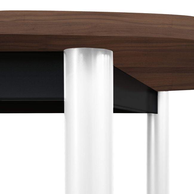 OPTIMA Konferenztisch   Oval, 2400 x 1000 mm, Nussbaum