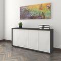 Sideboard NOVA 2 OH, (BxH) 1.615 x 750 mm Anthrazit-Weiß