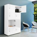 Spind | Schließfach NOVA mit 8 Fächern, (BxH) 800 x 1.444 mm, Weiß