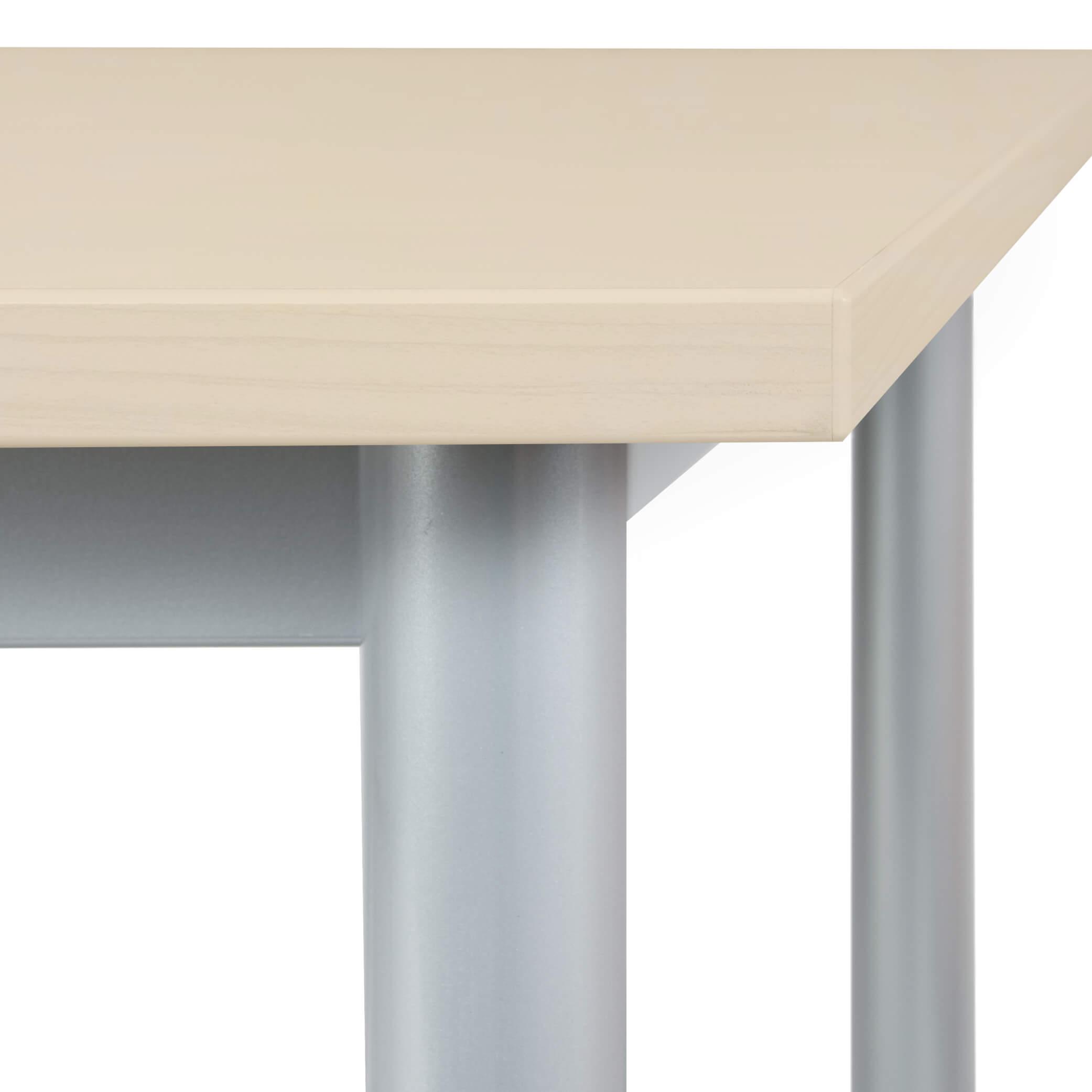 BUSINESS Schreibtisch OPTIMA G Ahorn/Silber 160 x 80cm Bürotisch Computertisch