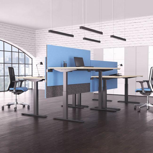 ACTIVE Schreibtisch | Elektrisch höhenverstellbar, 1800 x 800 mm, Ahorn