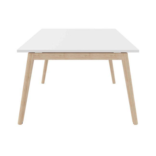 Konferenztisch NOVA Wood 1.800 x 1.200 mm Weiß Echtholzgestell – Bild 5